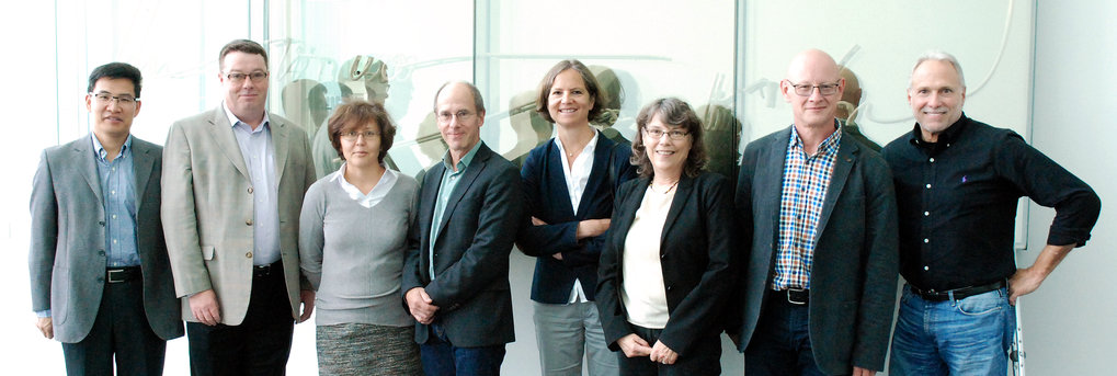 The Scientific Advisory Board in October 2016 (from left): Shaorong Gao (representative for Elly Tanaka), Peter Donovan, Tatiana Petrova, Peter Becker, Sabine Werner, Victoria Bautch, Joachim Wittbrodt, John Lowe