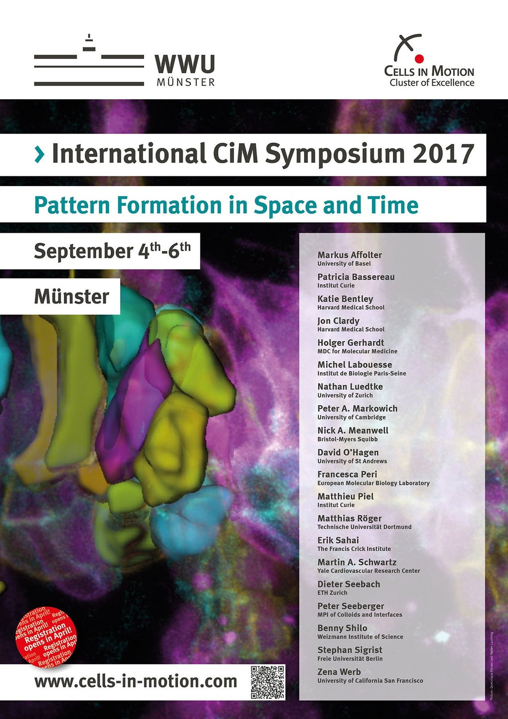 Meet us at this year's International Cells in Motion Symposium